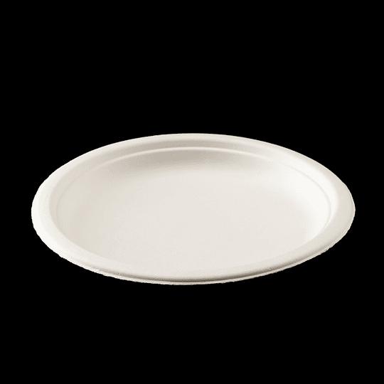 PLATO BIODEGRADABLE 7´´ 18CM  50 UN