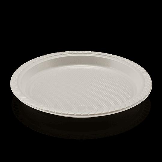 PLATO PLAST 22CM BLAN PAQX50UN