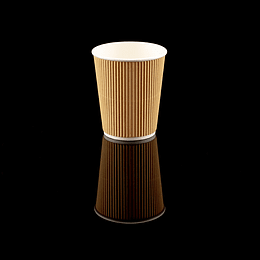 VASO RIPPLE WALL KRAFT 12 OZ