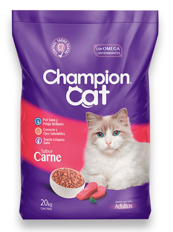 Champion Cat - Adulto - Carne - 20kg