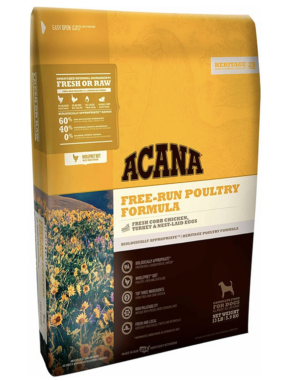 Acana - Heritage - Free Run Poultry