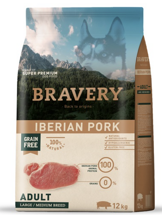 Bravery - Iberian Pork - Adult - Large and Medium Breed
