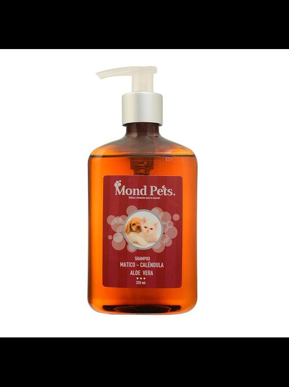 Shampoo Mático, Calendula y Aloe Vera 250ml - Mondpets