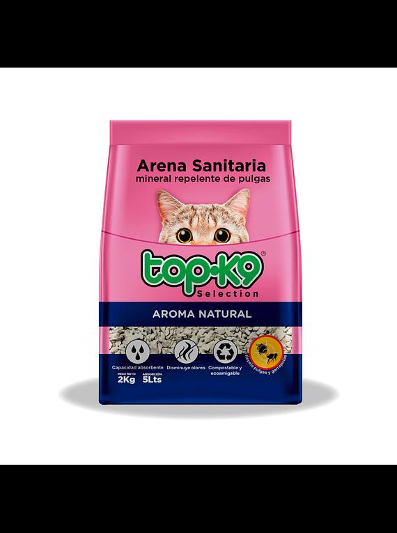 Arena Sanitaria Mineral - Topk9 - Aroma Natural