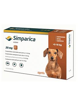 Simparica  Perros 5 - 10 Kg  3 comprimidos