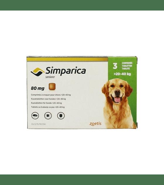 Simparica Perros 20 - 40 Kg 3 comprimidos