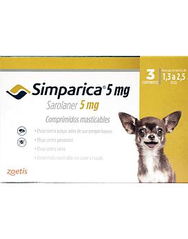 Simparica  Perros 1,3 - 2,5 Kg