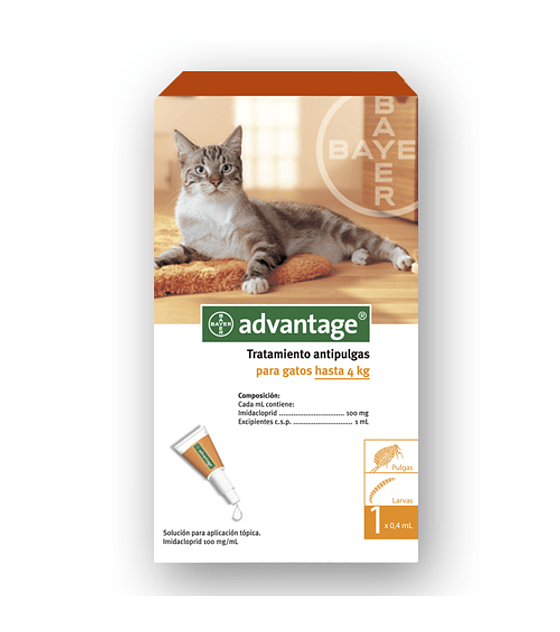 Advantage Gatos hasta 4 Kg