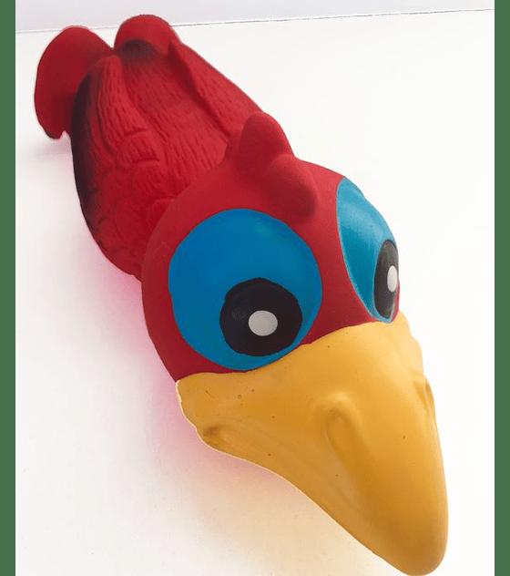 Pájaro rojo loco