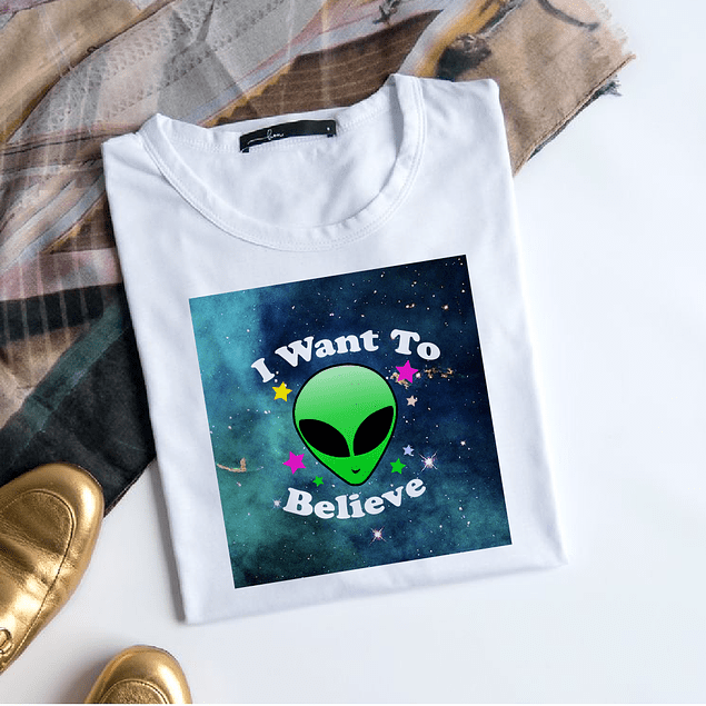 POLERA I WANT TO BELIEVE