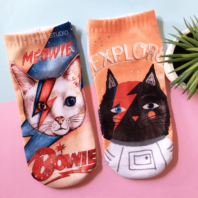 CALCETINES GATO BOWIE