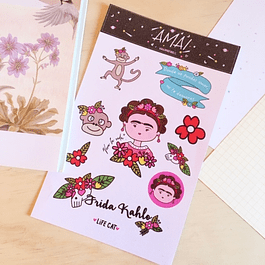 SET STICKERS GLITTER FRIDA KAHLO