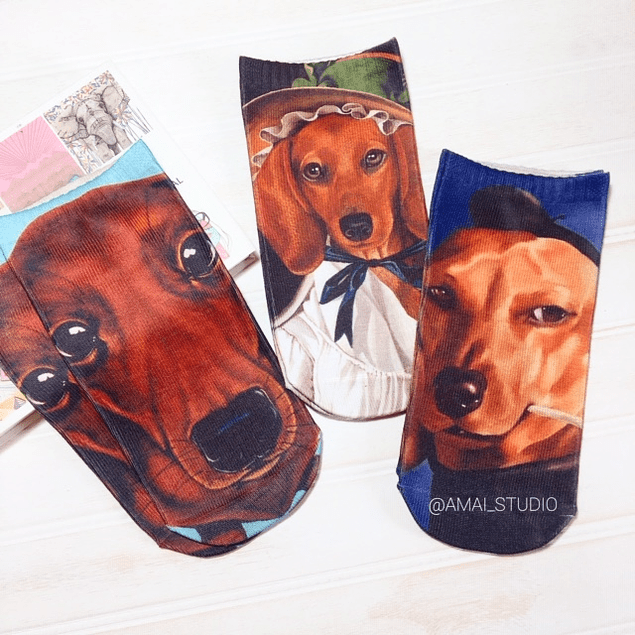 CALCETINES DACHSHUND PERSONAJES