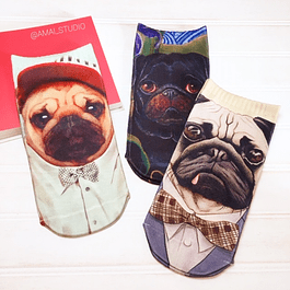 CALCETINES PUG COLORES