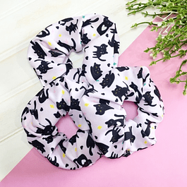 SCRUNCHIE BLACK CAT
