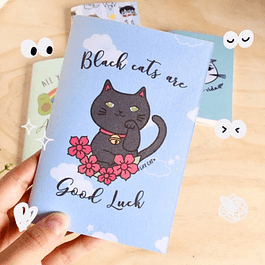 LIBRETA PERLADA BLACK CAT