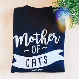 POLERON MOTHER OF CATS NEGRO