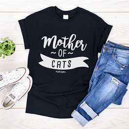 POLERA NEGRA MOTHER OF CATS