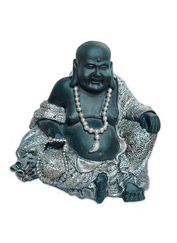 """Figura Buda con collar sentado en Poliresina 7"""""""