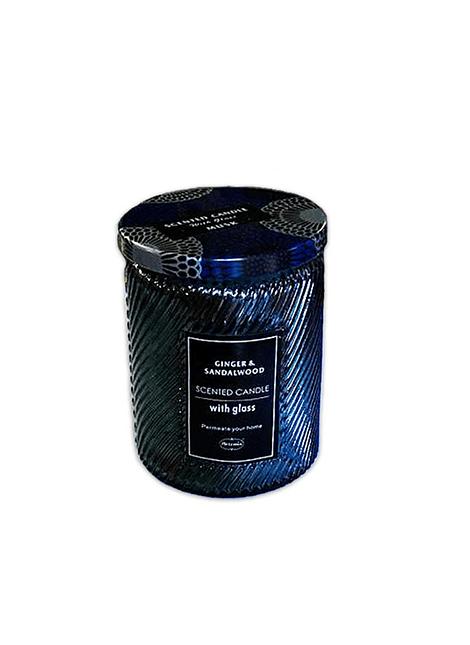Vela Aromatica H. Fragance Sándalo Jengibre  Vidrio Tallado