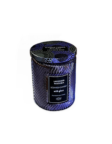 Vela Aromatica H. Fragance Lavanda Vidrio Tallado