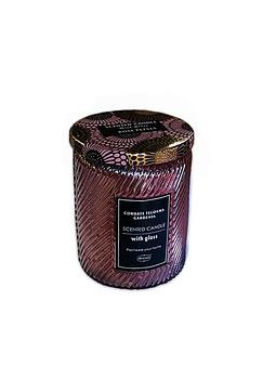 Vela Aromatica H. Fragance Atadura de Gardenia Vidrio Tallado