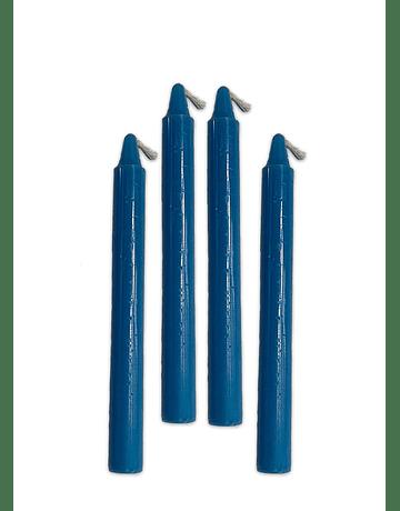 Velas Taper Azul