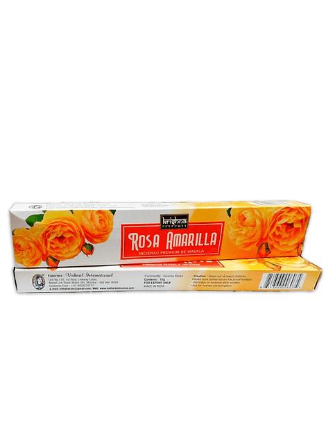 Incienso Krishna Premium Rosa Amarilla