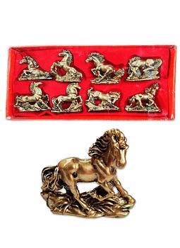 """Figura  de Caballos Dorados 3""""  JI19-175"""