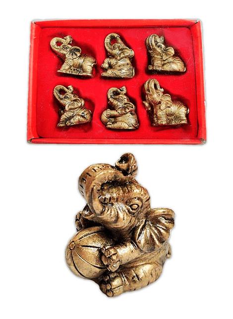 "Figura  Set de Elefantes Mini 2""  JI19-174"
