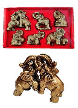 "Figura  Set de Elefantes  3""  JI19-173"