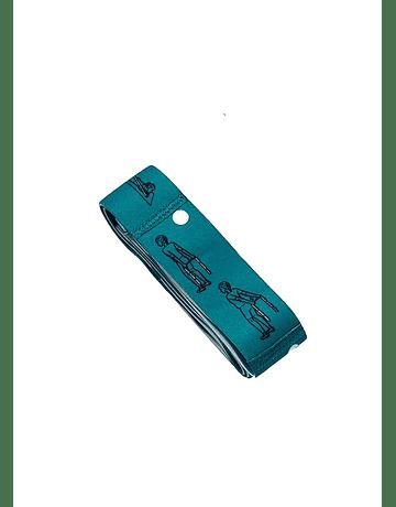 Banda para yoga  Elasticada 90x 4cm Azul