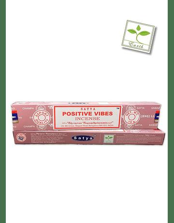 Incienso Satya Vibra Positiva 15 gm. 12 unidades