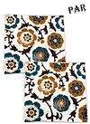 Funda de Cojín Bordado JI19-307H Azul
