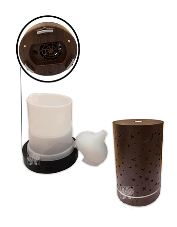 Difusor Humidificador Cilindro + Esencia de Krishna 15 ml