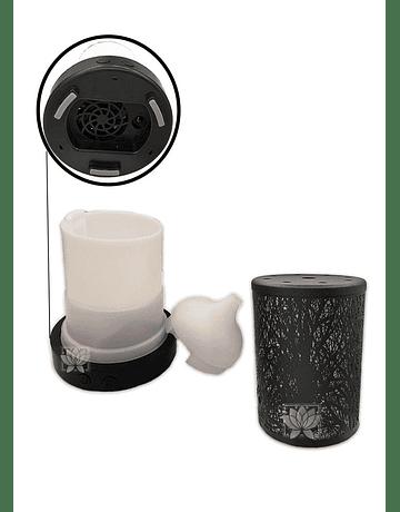 Difusor Humidificador Cilindro Diseño + Esencia Krishna 15 ml