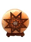 """Lampara de Sal Diseño Estrella y Circulos  N°6  9"""""""