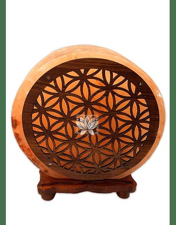 """Lampara de Sal Diseño Mandala  N°12  9"""""""