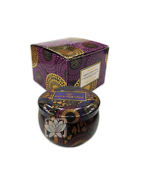 Vela Aromatica Decorativa Amber & Fresh Moss JI20-55