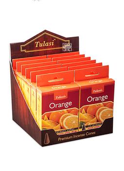 Incienso Tulasi Cono  Naranja