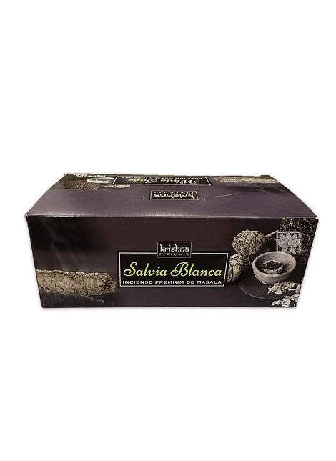 Incienso Krishna Premium Salvia Blanca