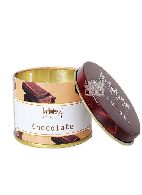 Vela Aromaticas Lata Krishna Chocolate Doble Mecha