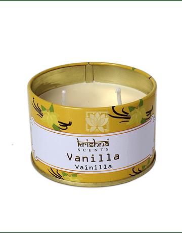 Vela Aromaticas Lata  Krishna Vainilla