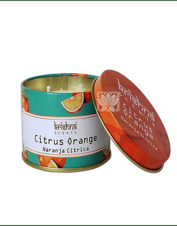 Vela Aromaticas Lata Krishna Naranja