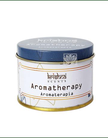 Vela Aromaticas Lata Krishna Aromaterapia