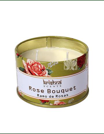Vela Aromaticas Lata Krishna Rosa