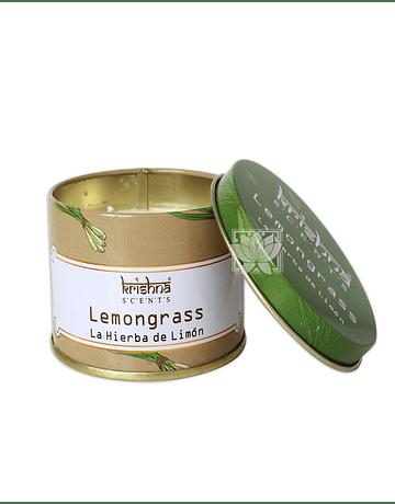 Vela Aromaticas Lata Krishna Lemongrass