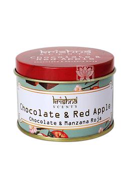Vela Aromaticas Lata Krishna Chocolate Manzana