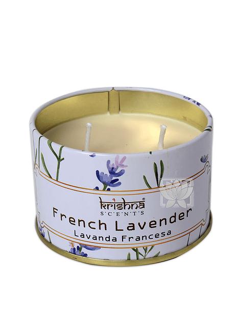 Vela Aromaticas Lata Krishna Lavanda