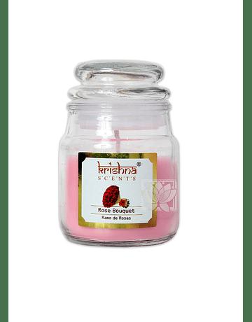 Vela Aromatica Frasco Krishna Rosa 75grs